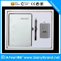 Buy cheap Promotional Gift Promotional Recycled Paper Notebook Pen with Power bank gife Set from wholesalers