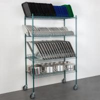 Buy cheap 4 Levels Freestanding Drying Rack For Dining Essentials Store Sheet Pans  , Trays Drying Wire Shelving For Kitchen from wholesalers