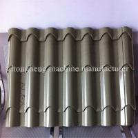 Buy cheap Color Steel Plate Rolling Machine , Aluminium Glazing Roof Tile Roll Forming Machine 18 Rows from wholesalers