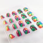 Buy cheap cute Kids barbie fake nails , Glitter Fake Nails , 3D nail tips from wholesalers