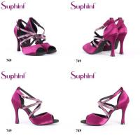 Buy cheap Suphini Tied Buckle High Heel Ballroom Party Shoes Latin Dance Shoes With Diamond Rhinestone from wholesalers