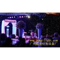 Buy cheap fireproof led star curtain star cloth with 17 different programs 3*8m from wholesalers