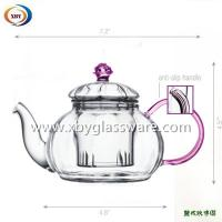 Buy cheap Heat resistant teapot with colored lid and handle from wholesalers