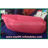 Buy cheap Pink Custom Inflatable Products Sleeping Bag Lazy Air Couch Travelling laybag from wholesalers