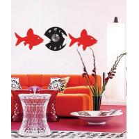 Buy cheap Home Fish Acrylic Decorative Designer Wall Clocks Sticker 10D058  from wholesalers