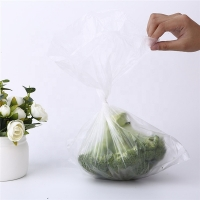 Buy cheap 10 mil Flat Compostable HDPE Supermarket Plastic Bags Roll For Vegetables Fruit from wholesalers