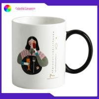 Buy cheap 12 Oz Custom Imprinted Promotional Ceramic Coffee Mugs With Black Handle from wholesalers