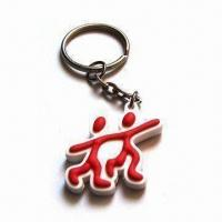 Buy cheap PVC Keychain, Customized Designs and Logos Available, Suitable for Promotional Gifts product