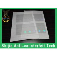Buy cheap KY ID hologram overlay 50um rounded rectangles transparent DHL express from wholesalers