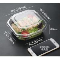 Buy cheap Disposable Plastic Food Packaging salad bowl with lid,clear small food dessert disposable soup plastic salad bowl packag from wholesalers
