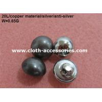 Buy cheap Round Pearl Shank Custom Clothing Buttons Copper Color With Polished from wholesalers