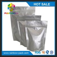 Buy cheap Eco-friendly Silver Aluminium Foil Pouch Ziplock Stand Up Gravure Printing from wholesalers