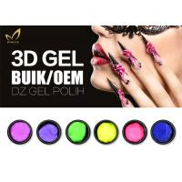 China No Yellowish Emboss 3D Gel Nail Polish Nail Art Designs Gel For Nail Decoration on sale
