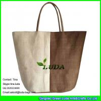 Buy cheap LUDA color block fashion paper decorative straw bag for women from wholesalers