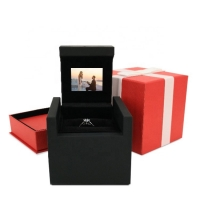 Buy cheap HD 5inch Screen video box Necklace Gift Paper Led Small Customized Logo And Set Luxury Jewelry Box lcd invitation card from wholesalers