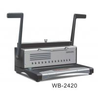 Buy cheap Hole Puncher Electric Binding Machine , A4 Size Wire Spiral Binding Machine WB-2420 from wholesalers