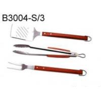 Buy cheap 3 pcs BBQ Tool Set w/Bamboo Handle from wholesalers