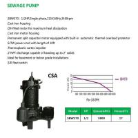 Buy cheap SEWAGE PUMP SBW370 from wholesalers