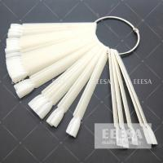 Buy cheap Natural Color  Artificial Nail Tips Nail Art Display Sticks With Ring 50 Pcs from wholesalers