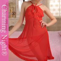 Buy cheap Red Erotic Transparent Adult Sexy Night Dress Lingerie long gowns Nylon Polyester from wholesalers