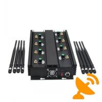 Buy cheap Adjustable 8 Band UHF VHF Jammer Device To Block Mobile Phone Signal 16W from wholesalers