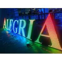 Buy cheap Metal LED lighted sign letters for outdoor advertising decoration from wholesalers