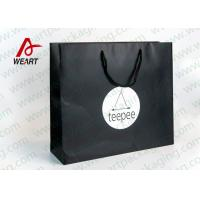 Buy cheap Matt Black Branded Personalised Paper Carrier Bags For Party Nylon Rope from wholesalers