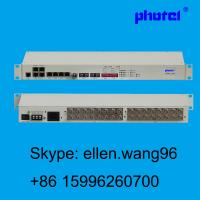 Buy cheap 8E1/16E1 4*10/100/1000M Ethernet  PDH MUX with 1+1 optic fiber protection from wholesalers