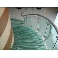 Buy cheap 8mm / 10mm Frameless Blue Bent Tempered Glass Sliding Heat Absorbing from wholesalers