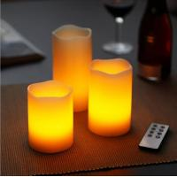 China Swing Flame Realistic Flameless LED Wax Candle on sale