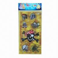 Buy cheap Lenticular stickers/3D hologram stickers, available in various sizes/colors, easy to apply/remove product