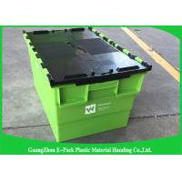 Transportation Turnover Box / Industrial Storage Containers with Plastic Attached Lid