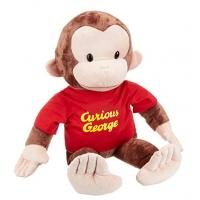 Buy cheap Small Animal Plush Dolls Curious George Red Shirt 12 Inch Plush For Children from wholesalers