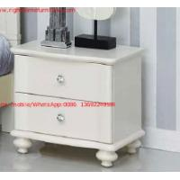 Buy cheap Ivory Classic Bed side table with wooden drawers for Nightstand design used by Hotel and Villa Furniture from wholesalers