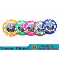 Buy cheap High Precision Casino Poker Chip Set / Poker Table Set For Gambling Games from wholesalers