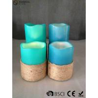 Buy cheap Multi Colored Led Pillar Candles With Hemp Rope Home Decoration from wholesalers