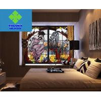 Buy cheap Multi Colored Tiffany Style Glass , Stained Glass Window Panels 3mm Thickness from wholesalers