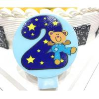 Buy cheap Cute Round Shape Number Printable Birthday Candles For Cake Decorating No Smoking from wholesalers