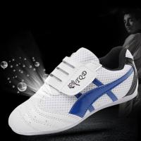 Buy cheap 2020 new cheap Sports martial arts, wholesale price sports shoes taekwondo shoes Blue colour size 27-45 from wholesalers