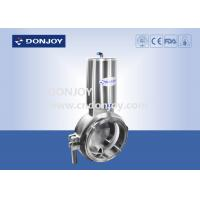 Buy cheap Sanitary level 2 inch powder butterfly valves with stainless steel actuator from wholesalers
