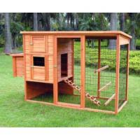 Buy cheap Large wooden chicken coop with wire mesh and metal tray from wholesalers