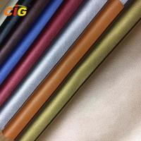 Buy cheap Shiny / Pearlized PU Synthetic Leather 140cm Width For Sofa Furniture product