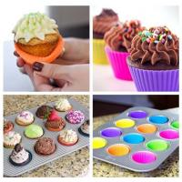 Buy cheap Home Made DIY Silicone Cupcake Molds Round Reusable For Muffin Baking from wholesalers