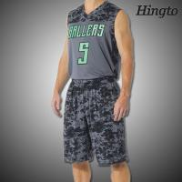 Buy cheap Fashion Durable Sublimated Basketball Uniforms with Short Sleeve from wholesalers