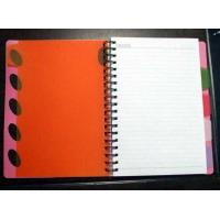 Buy cheap PP cover wire-o notebook with PP divider_China printing factory from wholesalers
