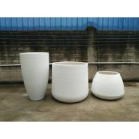 Buy cheap New arrival light weight large fiberstone planter pots for home and garden decorations from wholesalers