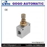 Buy cheap 1.5MPa Pneumatic Flow Control Valve , 1/4 Inch Bsp Thread One Way Restrictor Valve from wholesalers