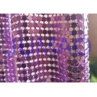 Buy cheap Rust Proof Metal Sequin Fabric No Electrical Conductivity For Ceiling Decorations product