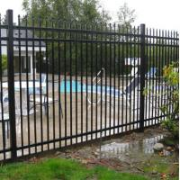 Buy cheap Metal Cap Aluminum Fence Panels , Metal Garden Fencing Panels ISO9001 Approved from wholesalers