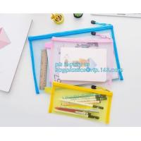 Buy cheap stationery within mesh PVC waterproof zipper document bag/ pvc folder, pp plastic file folder printable document bag product